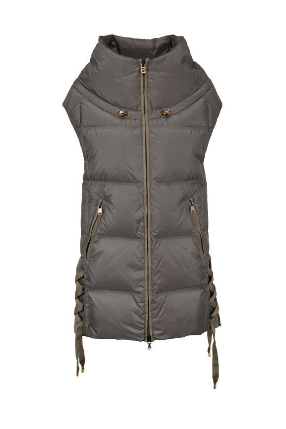 Bogner Dorea Olive Side Lace-Up Vest