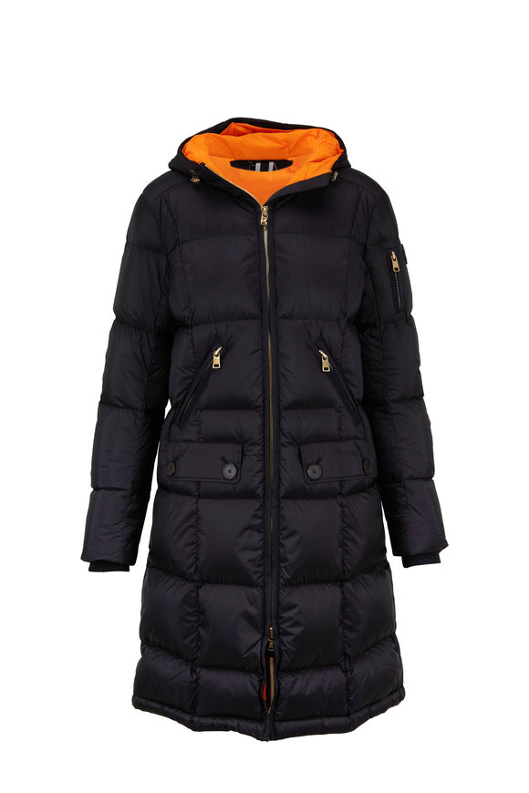 Bogner Malen Black & Orange Long Puffer Coat