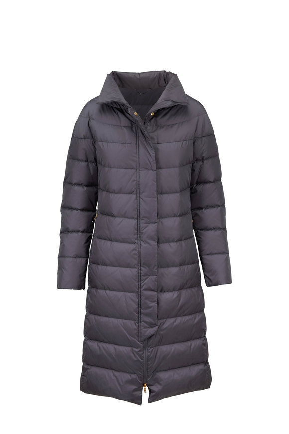 Bogner Eileen Medium Gray Long Puffer Coat