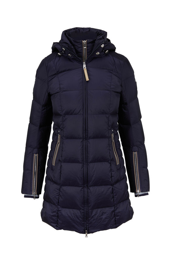 Bogner Rose Navy Long Puffer Coat