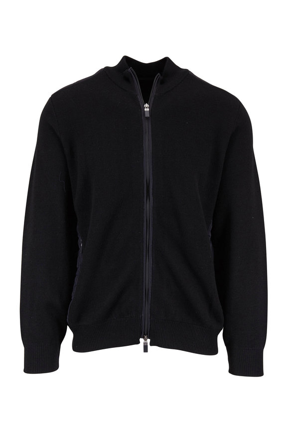 Raffi  Black Wool & Quilted Back Jacket