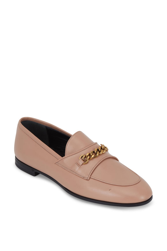 Tom Ford Flesh Leather Chain Loafer