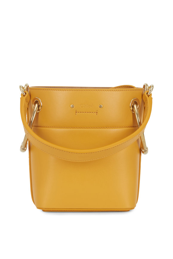 Chloé Roy Orange Leather Mini Bucket Bag