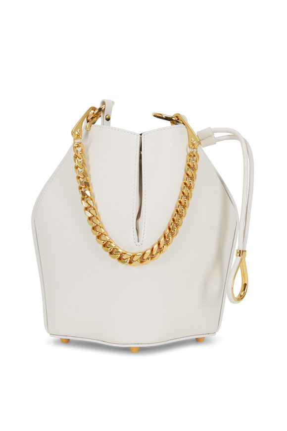 Alexander McQueen Ivory Leather Small The Bucket Bag