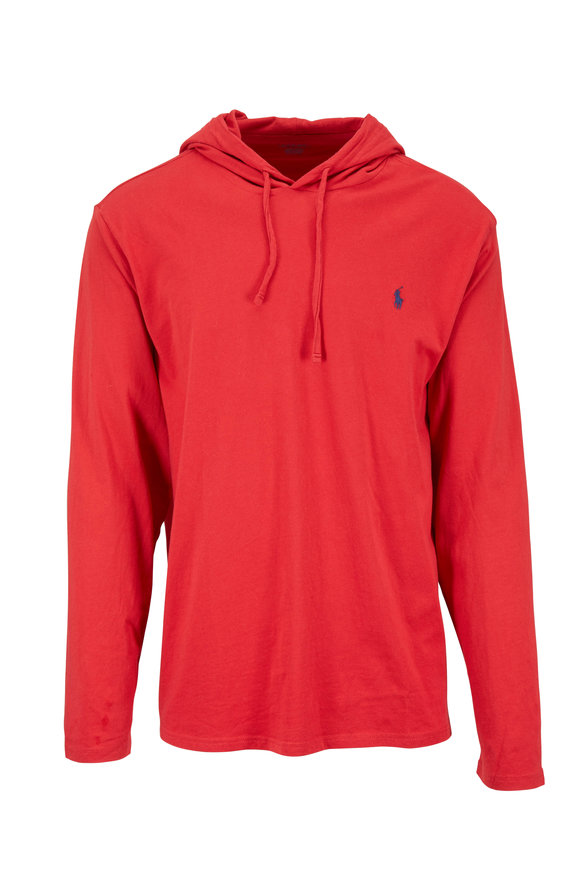 Polo Ralph Lauren Brick Red Cotton Hoodie