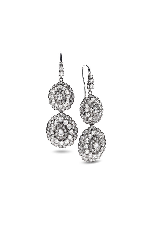 Nam Cho 18K White Gold Detachable Diamond Earrings