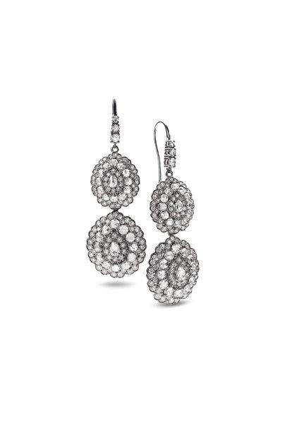 Nam Cho - 18K White Gold Detachable Diamond Earrings