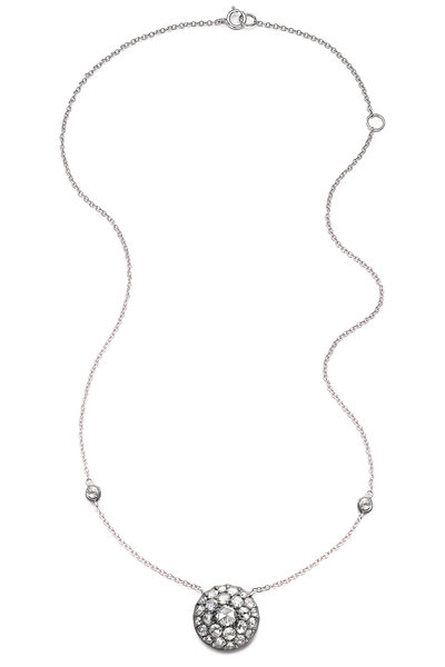 Nam Cho - 18K White Gold Rose Cut Diamond Pendant Necklace