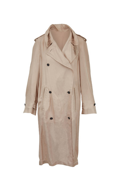 Tom Ford - Beige Double-Breasted Belted Trench Coat