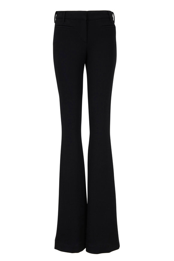 Tom Ford Black Stretch Wool Flared Pant