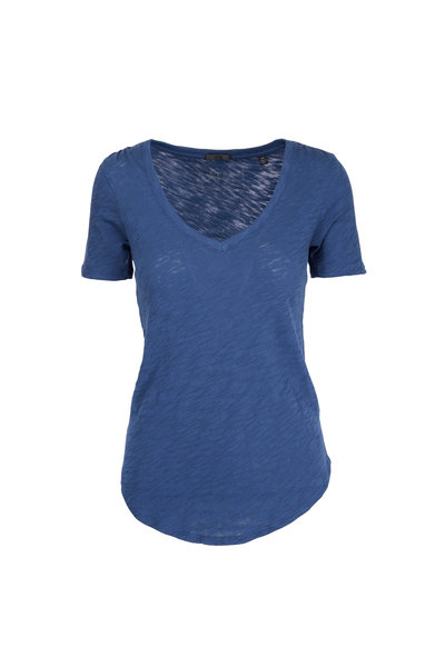 A T M - Ocean Blue V-Neck T-Shirt