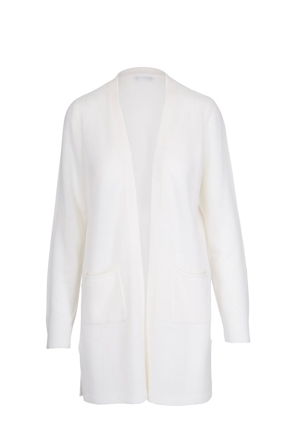 A T M Chalk Cashmere Long Cardigan