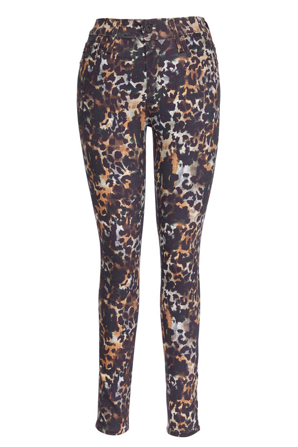 AG - Adriano Goldschmied Farrah Animal Print Ankle Skinny Pant