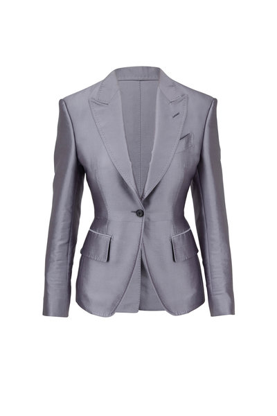 Tom Ford - Smoke Metallic Peak Lapel Jacket