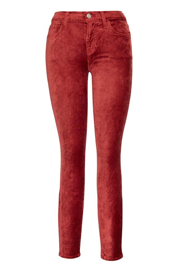 7 For All Mankind Pink Velvet Super Skinny Pant