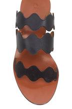 Chloé - Black Scalloped Multi Strap Slide, 40mm