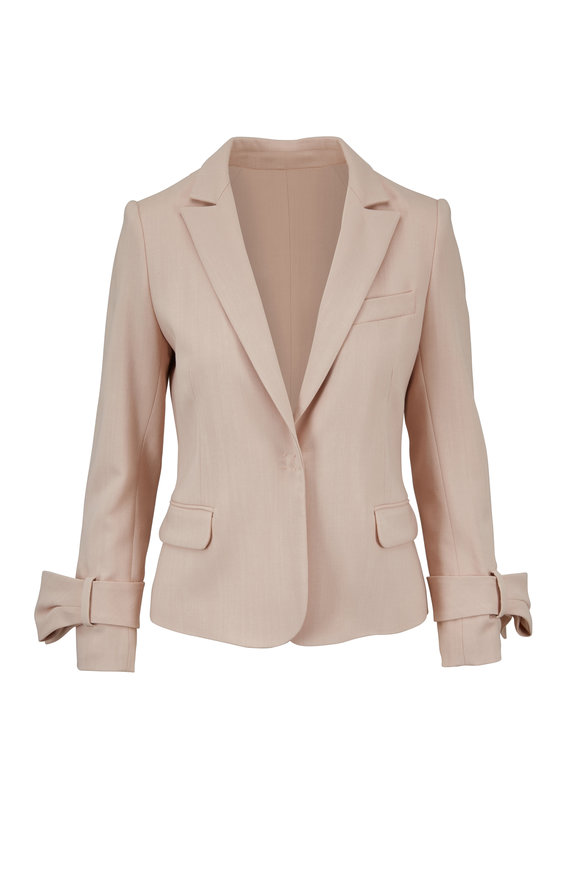 Paule Ka Powder Pink Bow Sleeve Jacket