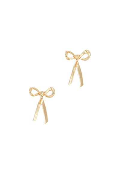 Oscar de la Renta - Yellow Gold Bow Earrings