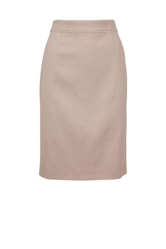 Paule Ka Powder Pink Pencil Skirt