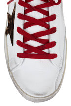 Golden Goose - Superstar White Leather & Leopard Star Sneaker