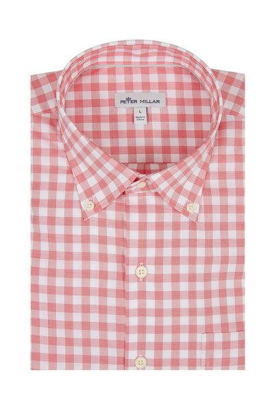Peter Millar - Broadwater Red Gingham Sport Shirt