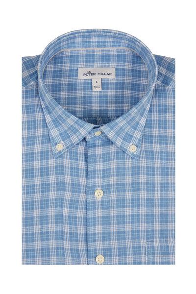 Peter Millar - Light Blue Caves Check Sport Shirt