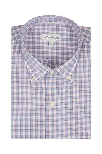 Peter Millar - Lewes Blue Glen Plaid Sport Shirt