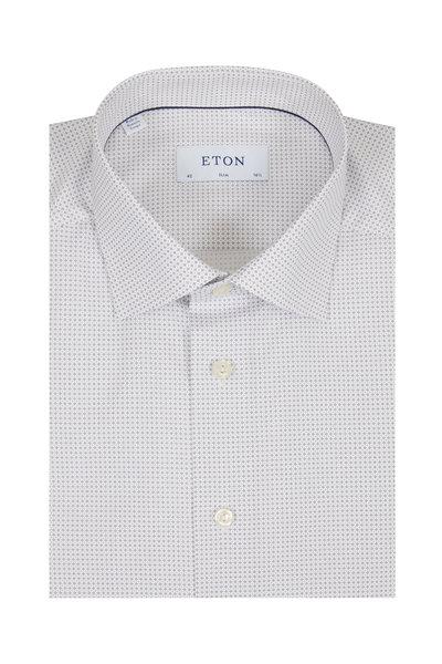 Eton - Gray Micro Dot Slim Fit Dress Shirt