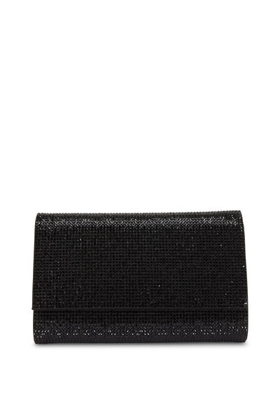 Judith Leiber Couture - Fizzy Black Crystal Chain Clutch