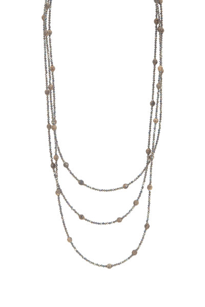 Brunello Cucinelli - Wood & Spinel Wrap Convertible Necklace