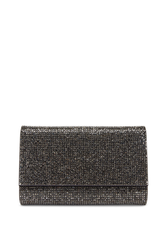 Judith Leiber Couture Fizzy Hematite Crystal Chain Clutch