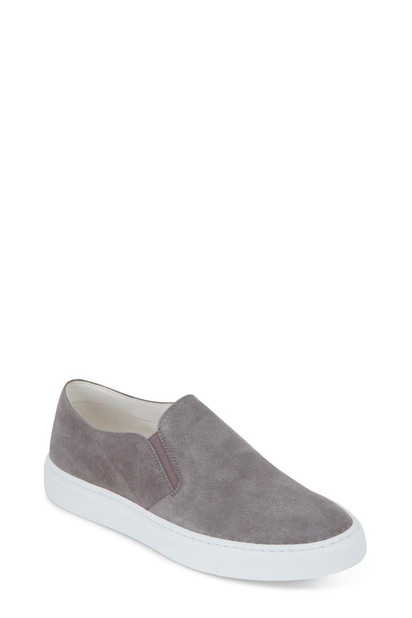 To Boot New York Women Gray Suede Slip-On Sneaker