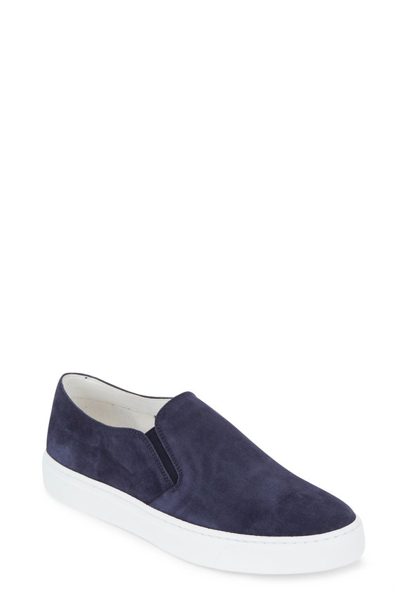To Boot New York Women Navy Suede Slip-On Sneaker