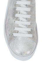 To Boot New York Women - Brushed Silver Leather Lace-Up Sneaker