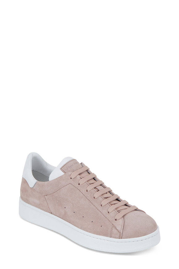 To Boot New York Women Pink Suede Lace-Up Sneaker