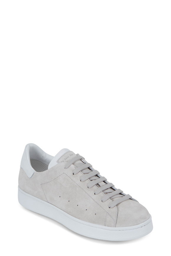 To Boot New York Women Aurora Light Gray Suede Lace-Up Sneaker