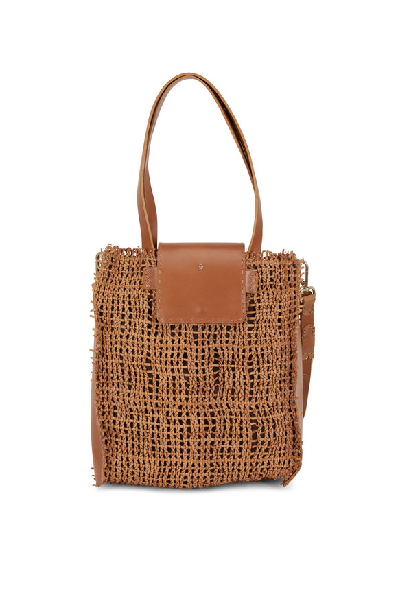 Henry Beguelin Mimosa Nude Woven Leather Convertible Bag