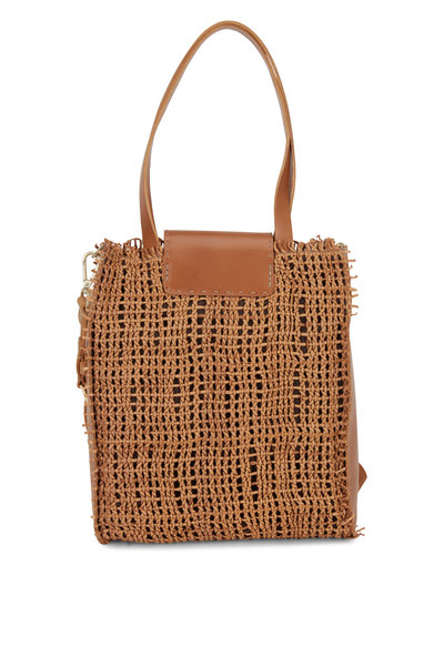 Henry Beguelin - Mimosa Nude Woven Leather Convertible Bag