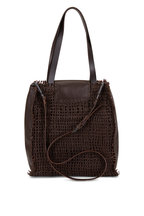 Henry Beguelin - Mimosa Brown Woven Leather Convertible Bag
