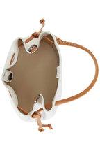 Henry Beguelin - Samoa White & Cognac Leather Small Bucket Bag