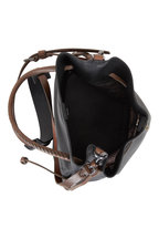 Henry Beguelin - Samoa Black & Brown Leather Small Bucket Bag