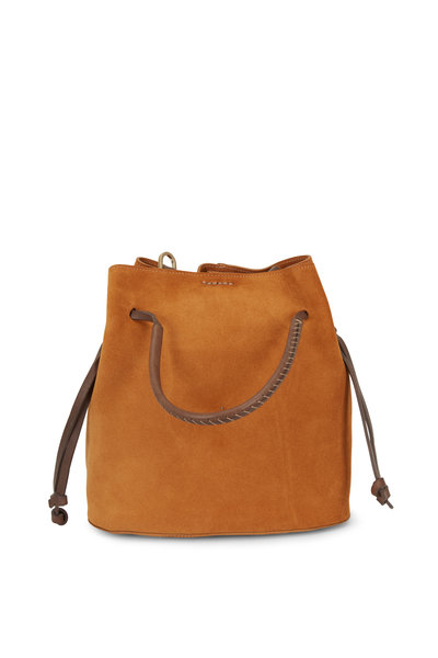 Henry Beguelin - Samoa Cognac Suede Small Bucket Bag