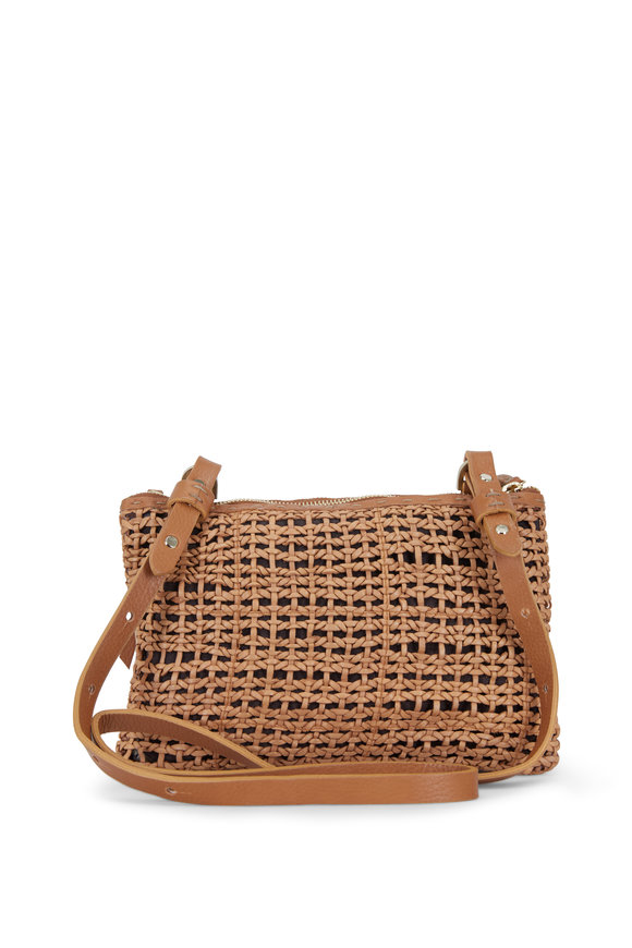 Henry Beguelin Zedda Nude Woven & Smooth Leather Double Crossbody