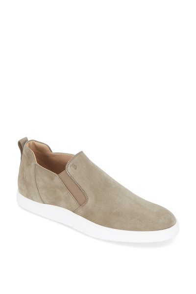 Tod's - Torba Gray Suede Pull-On Boot