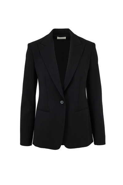 The Row - Mathis Black Stretch Wool Jacket