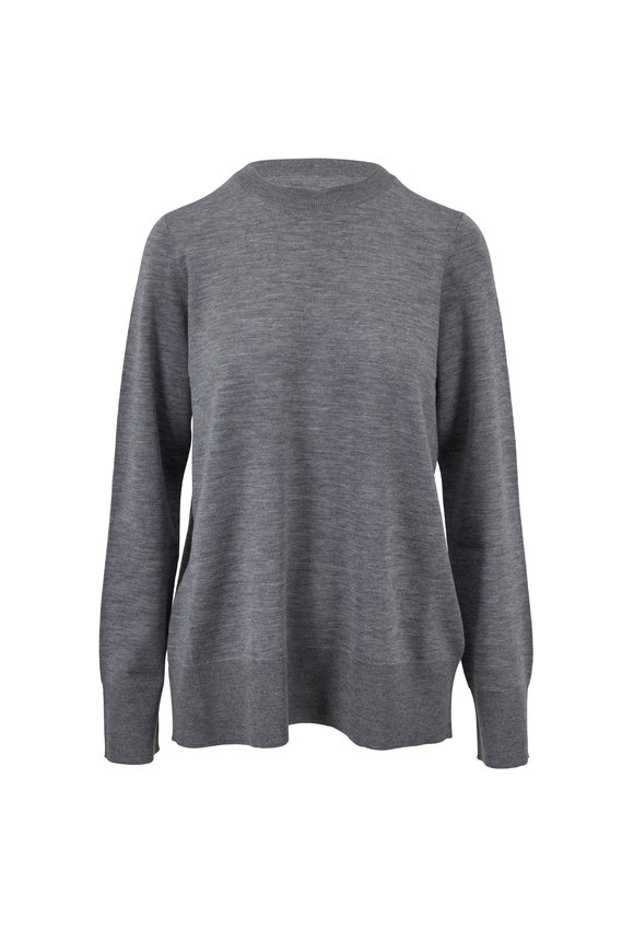 The Row Sebellia Medium Gray Knit Cashmere Sweater