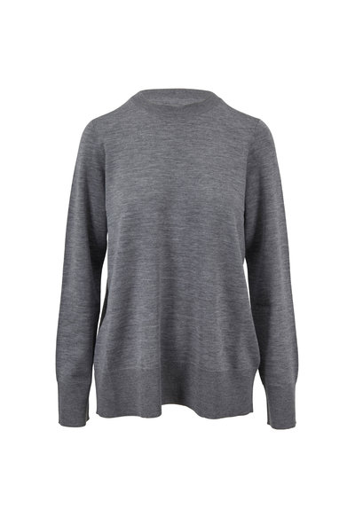 The Row - Sebellia Medium Gray Knit Cashmere Sweater