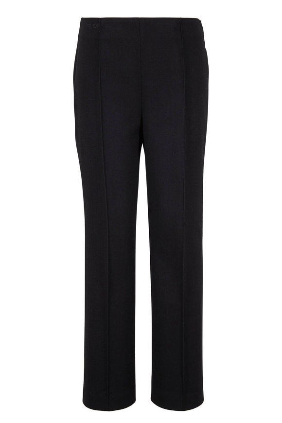 Fendi Black Wool Seamed Pant