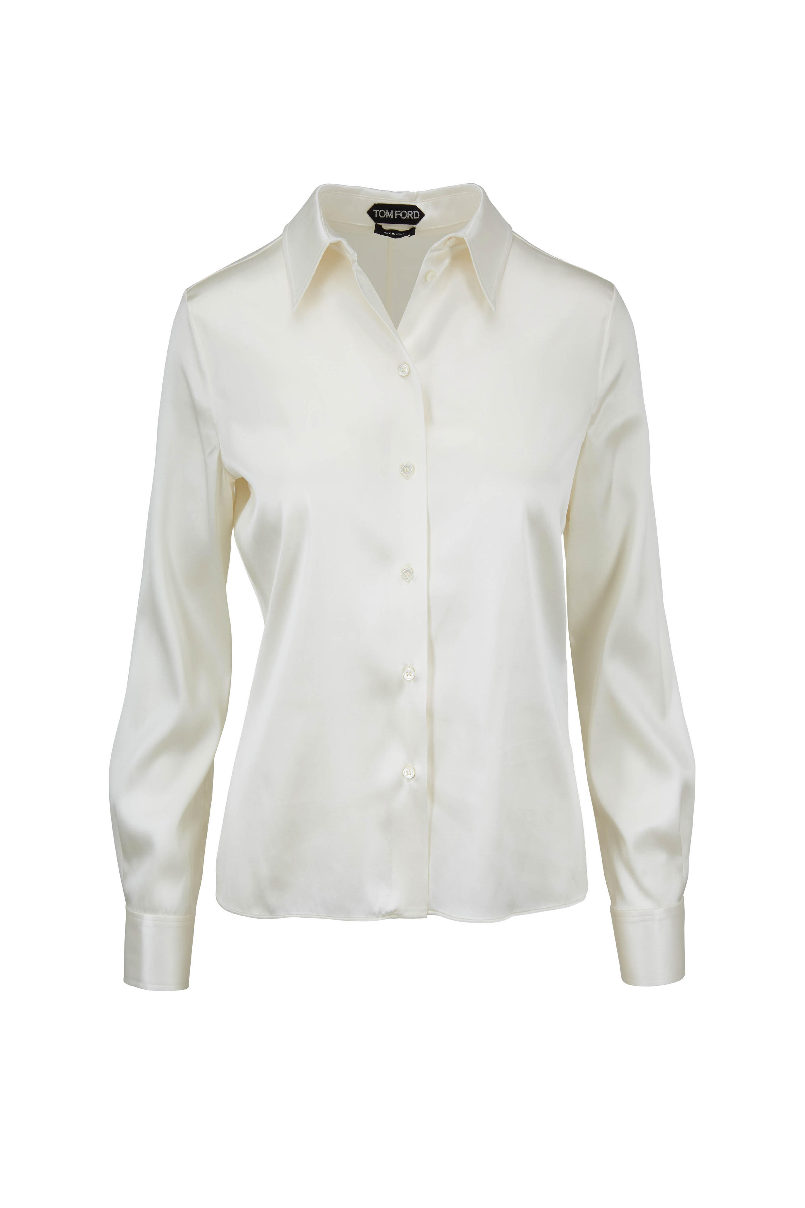 fc5d668c395604 Tel Trimmed Silk Charmeuse Blouse Blouses And Knits Oscar De