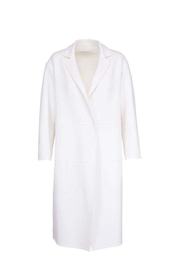 Kiton White Cashmere Long Coat